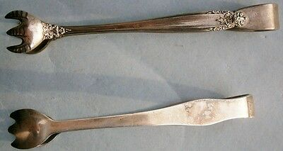 Pair of Antique Sterling Silver Sugar Cube Tongs