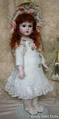 Fig A 19 Steiner French Bebe porcelain doll by Emily Hart Antique laces costume