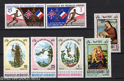 New Hebrides  #152-156, 161-162  Mint Nh  (1705070)