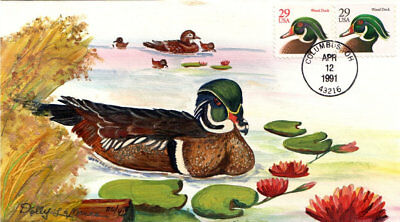 #2484-85 Wood Duck Olde Well FDC (25119912484-85001)