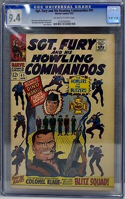Marvels Sgt. Fury and his Howling Commandos CGC Two Comic Lot