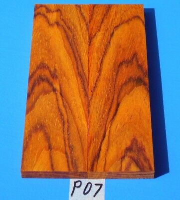 Colorful Red & Orange Cocobolo Knife Blank Handle Scales~Exotic Wood Lumber