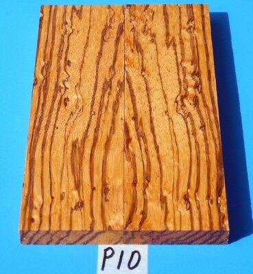 Fancy Burl Zebrawood Knife Blank Handle Scales~Exotic Wood/exotic Lumber