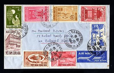 17270-VIETNAM-AIRMAIL COVER BANMET THUOT to BUDAPEST (hungary).1964.