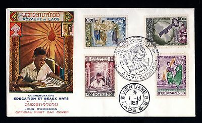 17271-ROYAUME du LAOS-FIRST DAY COVER VIENTIANE.1959.fdc.premier jour.