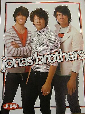 The Jonas Brothers, Miley Cyrus, Double Full Page Pinup