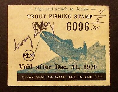 1970 Maryland Trout Fishing Stamp