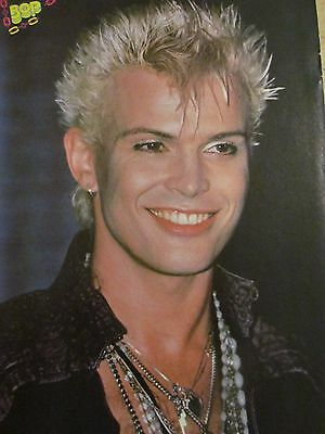 Billy Idol, Charlie Rivera, Menudo, Double Full Page Vintage Pinup
