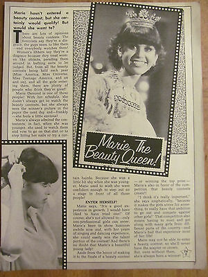 Marie Osmond, Full Page Vintage Clipping