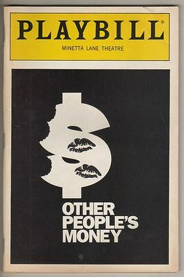 "Kevin Conway  ""Other People's Money""  Off-Broadway  Playbill 1989"