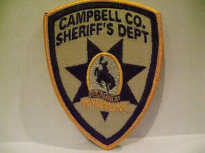 police patch  CAMPBELL COUNTY SHERIFF WYOMING