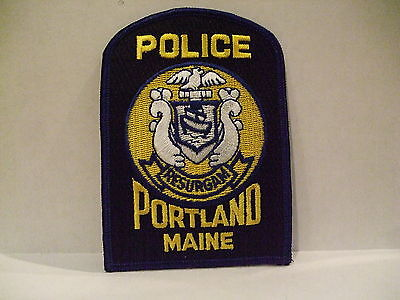 police patch  PORTLAND POLICE MAINE