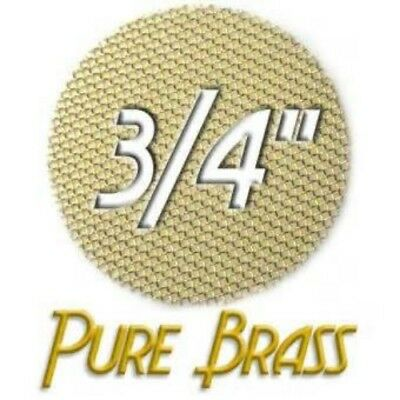 50ct 3/4 Brass Pipe Screens (.750) Premium Tobacco Smoking Pipe Screen Filters.