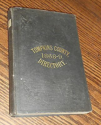 1868 Gazetteer & Business  Directory Of Tompkins County, Ithaca Dryden  Ny 1868