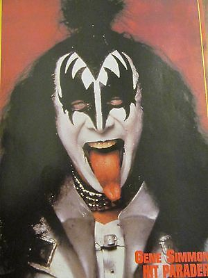 Gene Simmons, Paul Stanley, Kiss, Double Full Page Pinup
