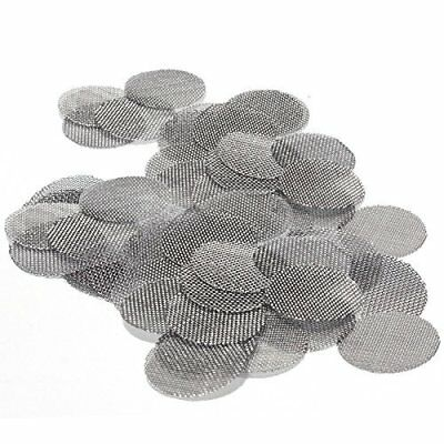 100ct 3/4 Stainless Pipe Screens (.750) Premium Tobacco Smoking Screen Filters.