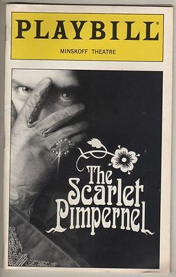 "Christine Andreas ""The Scarlet Pimpernel"" 1998 Playbill Terrence Mann"