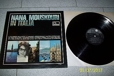 Nana Mouskouri In Italia Lp / Fontana Ml 680271/1966 Italy Cover Laminata