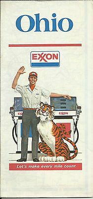 Exxon Gas Stations Vintage 1977-1978 Ohio State Highway Map