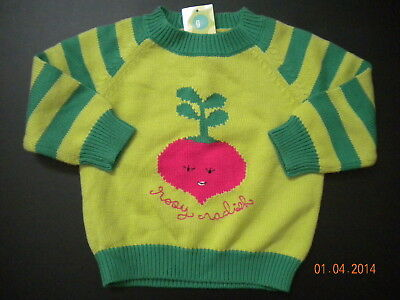 NWT Gymboree Grown with Love Green Radish Sweater 12-18