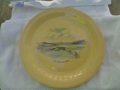Edwin Knowles San Francisco Bay Chop Plate Deanna Yellow Blank San Francisco Ctr