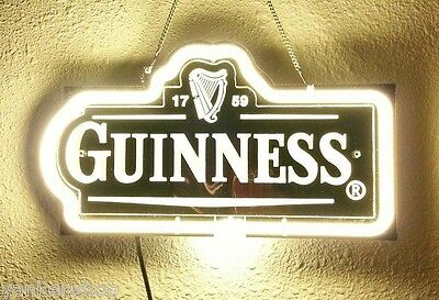 "ZD157 Guinness Beer Bar Pub Shop Display Neon Light 3D Acrylic Sign 12"" X 6.5"""