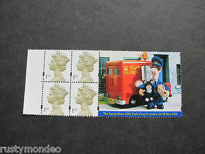 QEII Booklet pane SG 2124 bl Stamp Show Earls Court 2000, MNH