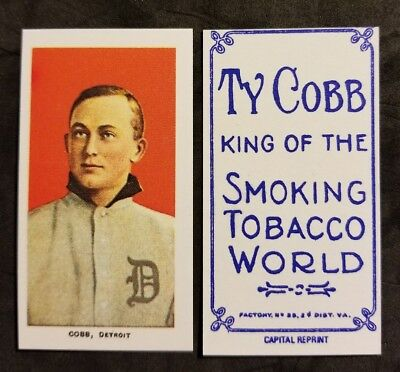 Ty Cobb Detroit Tigers 1909-11 T-206 reprint Baseball Card