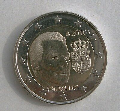 "Luxembourg Piece 2 Euro Commemorative 2010 ""armoiries Du Grand Duc"" Neuve"