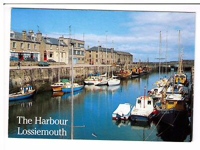 Postcard: The Harbour, Lossiemouth, Scotland