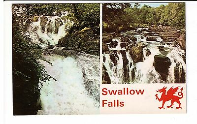 Postcard: Multiview - Swallow Falls, Betws-y-Coed, North Wales