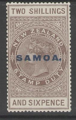 SAMOA SG128 1924 2/6 GREY-BROWN p14½x14 MTD MINT