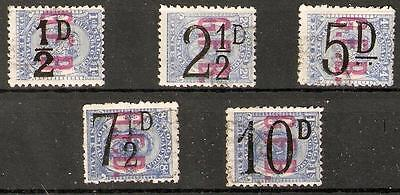 Tonga Sgo6/10 1893 Official Surcharges Set Fine Used
