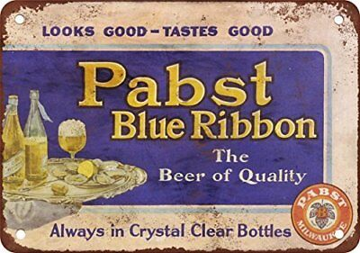 """PBR In Clear Bottles Vintage Retro Tin Metal Sign 12"""" X 18"""""""