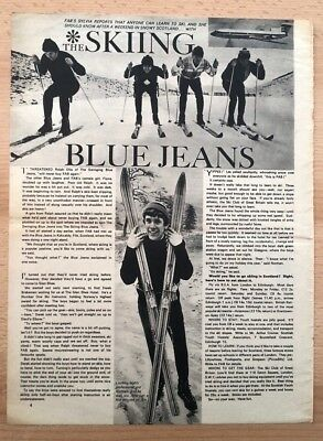 SWINGING BLUE JEANS 'skiers' magazine PHOTO/Article /clipping 13x10 inches