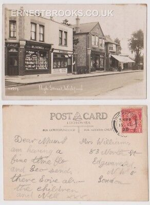 Early Postcard, Essex Wickford High Street, Old Shops W J Howell & W J Hiscox RP