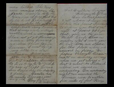 68th Ohio Infantry CIVIL WAR LETTER - Battle Content Fort Donaldson, Tennessee !