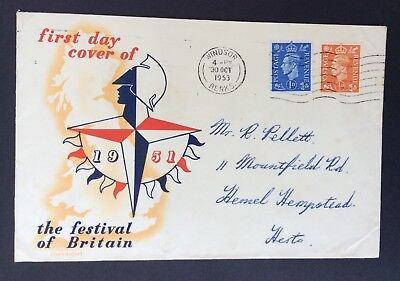 Gb: 1951 Festival Of Britain First Day Cover