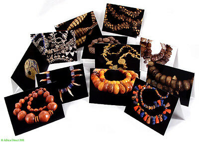 African Beads Photo Greeting Cards--Set of 12 African Art