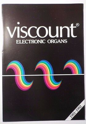 Original 1981-2 Viscount Electronic Organs Brochure -  Imperial Cosmos Orion