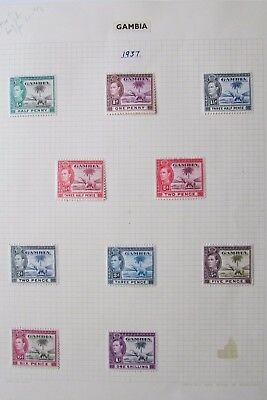 XL2938: Part Set Gambia KGVI Mint Stamps (1937)
