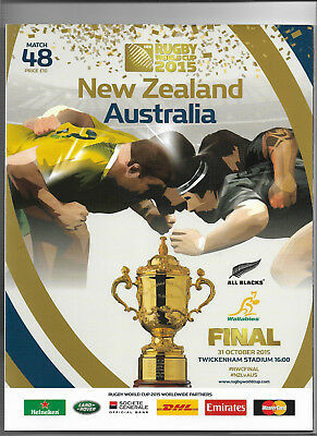 2015 IRB Rugby World Cup Final - NEW ZEALAND v. AUSTRALIA