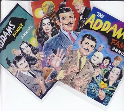 3 Photo Art Cards - The Addams Family (1960's TV Show) - Only £1.99 POSTFREE