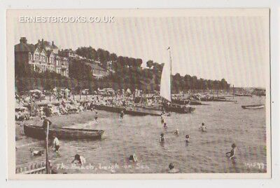 Early Postcard, Essex,Leigh On Sea,The Beach,Houses In Distance People Outside,