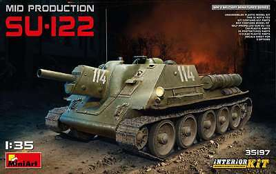 Miniart 1/35 Su-122 Mid Production w/Interior #35197  *New Release*Sealed*