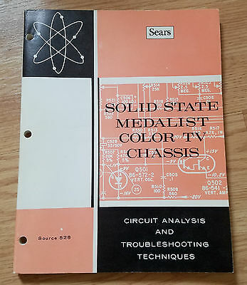 SEARS Solid State Medalist Color TV Chassis Book 1972