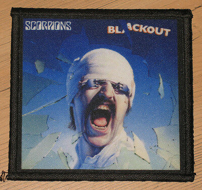 "SCORPIONS ""BLACKOUT"" silk screen PATCH"