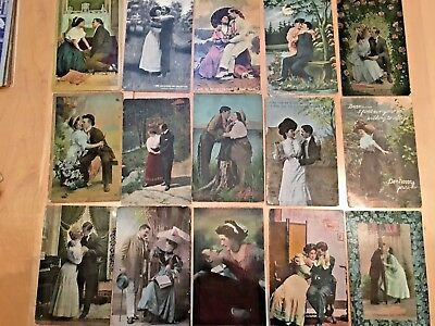 Postcards Of Romantic Couples  Lot 1