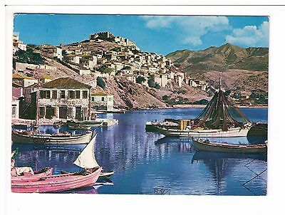 Postcard: View of Mithymna, Lesbos, Greece