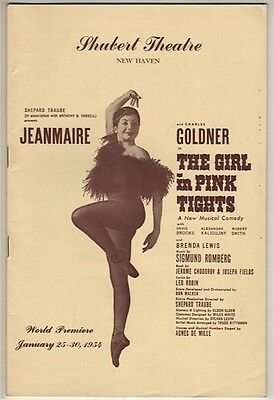 """Playbill """"The Girl in Pink Tights"""" 1954 TRYOUT Jeanmaire, Charles Goldner"""